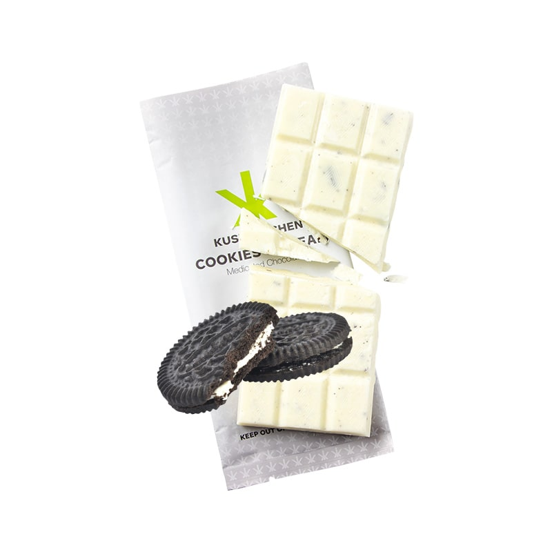 Buy Kush Kitchen - Medicated Chocolate THC - Cookies & Cream